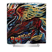 Pegasus Shower Curtain by Genevieve Esson