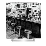 Peggy Sues Americana Route 66 Inspired Shower Curtain