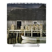 Peggys Cove Fishing Village Shower Curtain