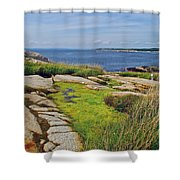 Peggy's Cove From Lighthouse-ns Shower Curtain