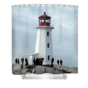 Peggy's Cove Light House Shower Curtain