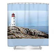 Peggy's Cove Light II Shower Curtain
