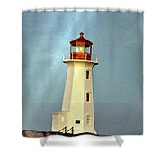 Peggy's Cove Lighthouse 2 Shower Curtain