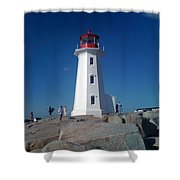 Peggy's Cove Lighthouse Shower Curtain