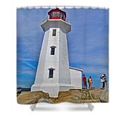 Peggy's Cove Lighthouse Closeup-ns Shower Curtain
