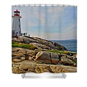 Peggy's Cove Lighthouse On The Rocks-ns Shower Curtain