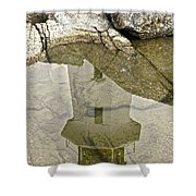 Peggys Cove Reflection Shower Curtain