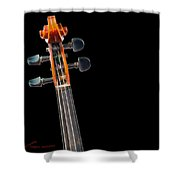 Pegs And Scroll Shower Curtain