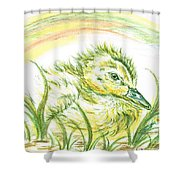 Pekin Duckling Shower Curtain