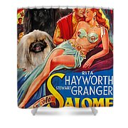 Pekingese Art - Salome Movie Poster Shower Curtain