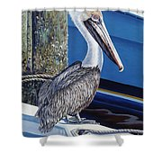 Pelican Blues Shower Curtain