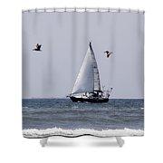 Pelican Escort Shower Curtain