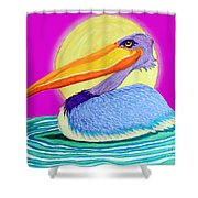 Pelican On The Water 2 Shower Curtain