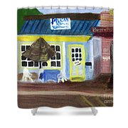 Pelican Restaurant On Lake Ave In Lake Worth Florida Shower Curtain