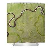 Pelican Valley Abstract Shower Curtain