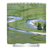 Pelican Valley Swirls Shower Curtain