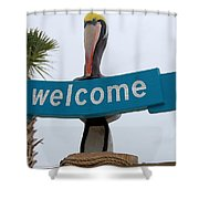 Pelican Welcome Shower Curtain