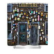 Pemaquid Lobster Shack Shower Curtain