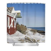 Pemaquid Point Bell House On The Maine Coast Shower Curtain