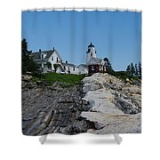 Pemaquid Point Light House Shower Curtain