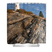 Pemaquid Point Light II Shower Curtain