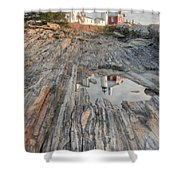 Pemaquid Point Light Iv Shower Curtain