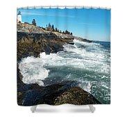 Pemaquid Point Lighthouse 1 Shower Curtain