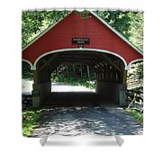 Pemigewasset River Bridge Shower Curtain