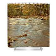 Pemigewasset River Rushing By Shower Curtain