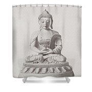 Pen And Ink Buddha Shower Curtain