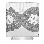 Pen And Ink Mandala 3 Shower Curtain