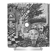 Pen And Ink World 1 Shower Curtain