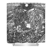 Pen And Ink World 2 Shower Curtain
