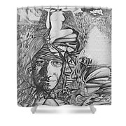 Pen And Ink World 3 Shower Curtain