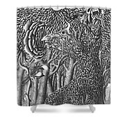 Pen And Ink World 8 Shower Curtain