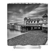 Penarth Pier 1 Mono Shower Curtain