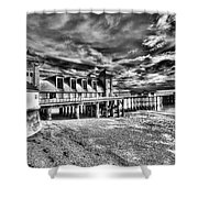 Penarth Pier 6 Monochrome Shower Curtain