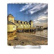 Penarth Pier Dawn 2 Shower Curtain