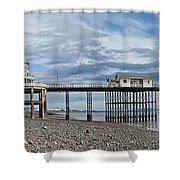 Penarth Pier Panorama 1 Shower Curtain