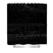 Pencil - Office Of The Singapore River Cruise Of The Marina Bay Sands Hot Shower Curtain