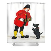 Pencil And Inkspot Shower Curtain