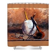 Pencils And Pipe Shower Curtain