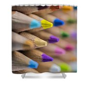 Pencils Colored Macro 5 Shower Curtain