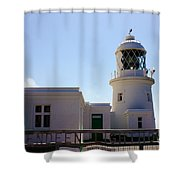 Pendeen Lighthouse Cornwall Shower Curtain