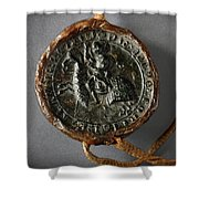 Pendent Wax Seal Of The Council Of Calahorra Shower Curtain