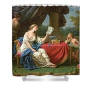 Penelope Reading A Letter From Odysseus Shower Curtain