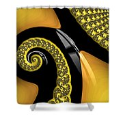 Penguin Revisited Shower Curtain