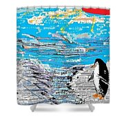 Penguins At Five O'clock Shower Curtain