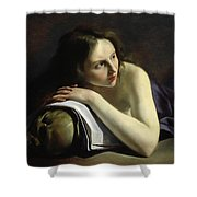 Penitent Magdalen Oil On Canvas Shower Curtain