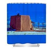 Penitente Morada Christian Church At Abiquiu New Mexico Shower Curtain